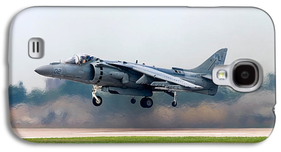 3scape Photos Galaxy S4 Case featuring the photograph Av-8b Harrier by Adam Romanowicz