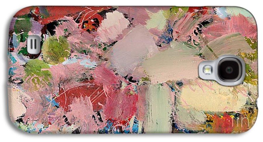 Landscape Galaxy S4 Case featuring the painting Azaleas by Allan P Friedlander