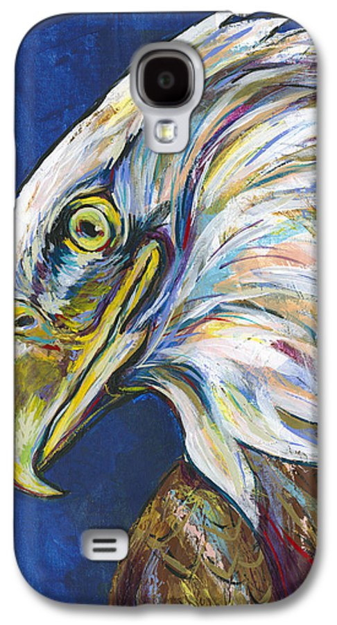 Lovejoy Galaxy S4 Case featuring the painting Bald Eagle by Lovejoy Creations