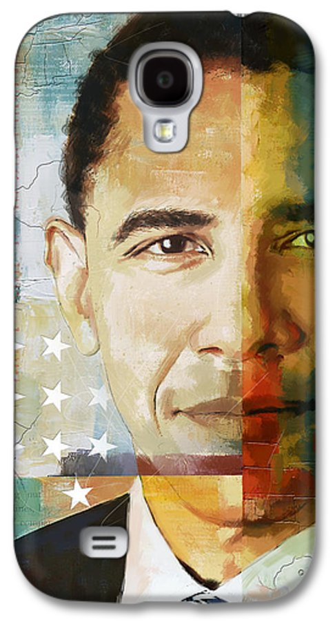 Barack Obama Galaxy S4 Case featuring the painting Barack Obama by Corporate Art Task Force