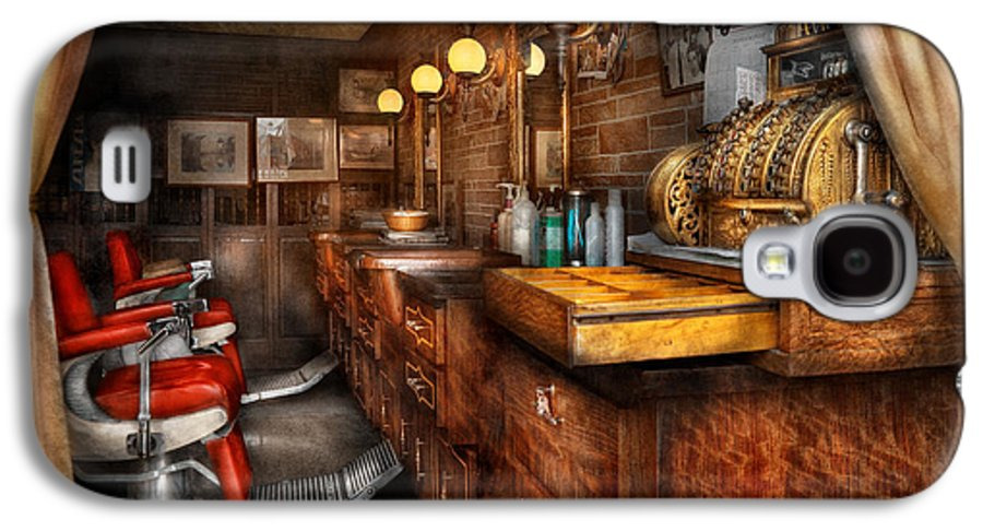 Barber Galaxy S4 Case featuring the photograph Barber - Closed On Sundays by Mike Savad