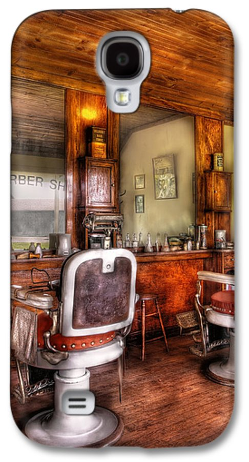 Barber Galaxy S4 Case featuring the photograph Barber - The Barber Shop II by Mike Savad