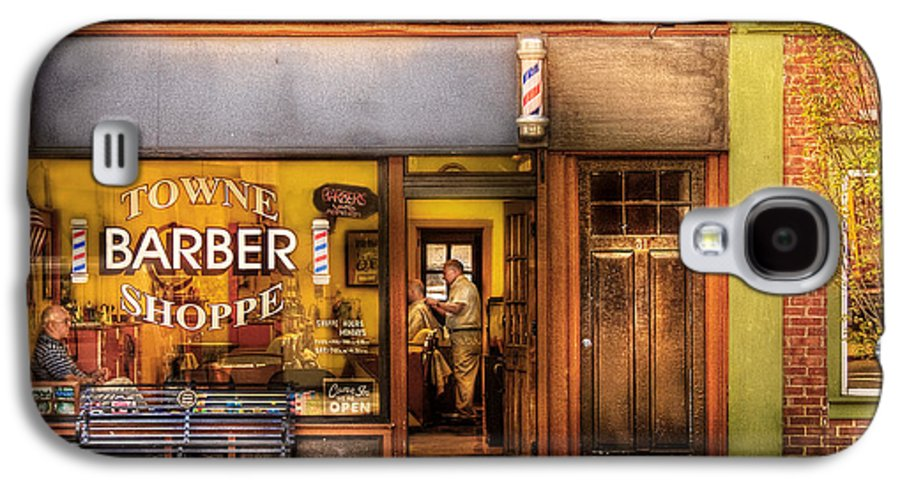 Hair Galaxy S4 Case featuring the photograph Barber - Towne Barber Shop by Mike Savad