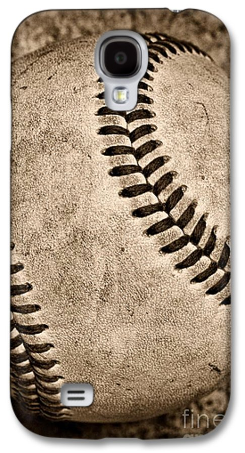 Paul Ward Galaxy S4 Case featuring the photograph Baseball Old And Worn by Paul Ward