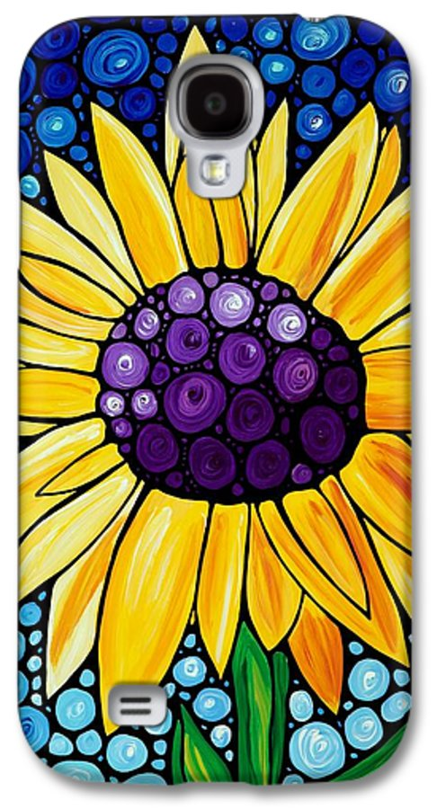 Floral Art Galaxy S4 Case featuring the painting Basking In The Glory by Sharon Cummings
