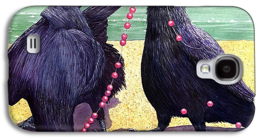 Raven Galaxy S4 Case featuring the painting Baubles by Catherine G McElroy