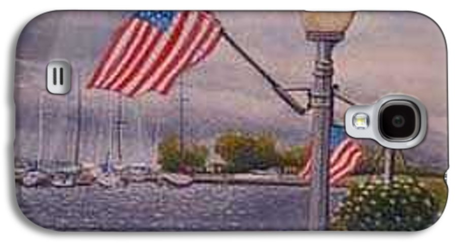 Rick Huotari Galaxy S4 Case featuring the painting Bayfield On The 4th by Rick Huotari