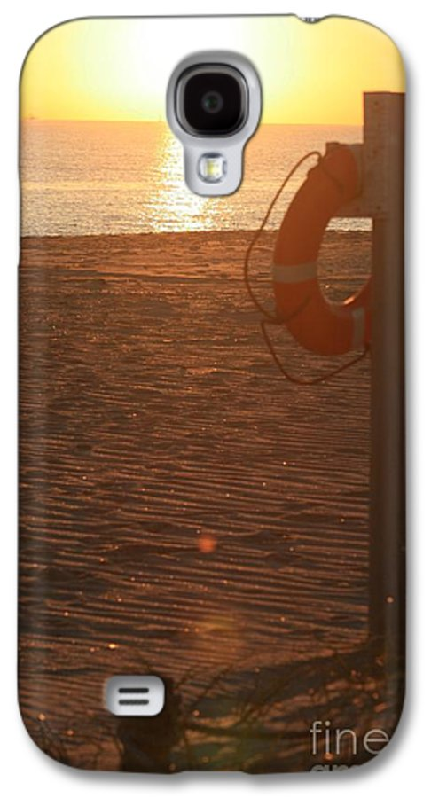 Beach Galaxy S4 Case featuring the photograph Beach At Sunset by Nadine Rippelmeyer