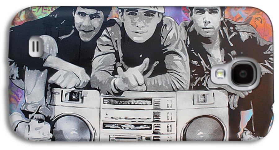 Stencil Art Galaxy S4 Case featuring the painting Beastie Boys by Josh Cardinali