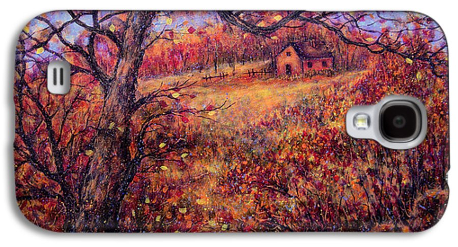 Autumn Galaxy S4 Case featuring the painting Beautiful Autumn by Natalie Holland