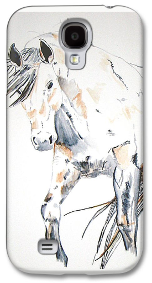 Horse Galaxy S4 Case featuring the painting Beauty by Crystal Hubbard