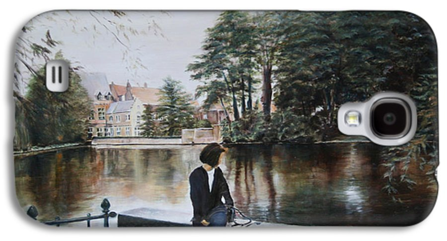 Water Galaxy S4 Case featuring the painting Belgium Reflections In Water by Jennifer Lycke