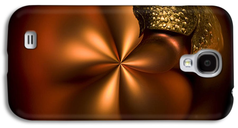 Orange Galaxy S4 Case featuring the photograph Bent Bauble by Anne Gilbert