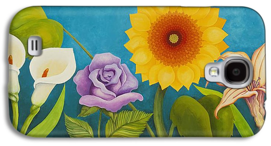 Art Galaxy S4 Case featuring the painting Best Friends by Carol Sabo