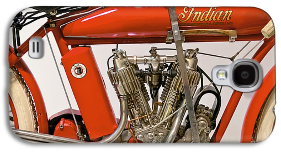 Savad Galaxy S4 Case featuring the photograph Bike - Motorcycle - Indian Motorcycle Engine by Mike Savad