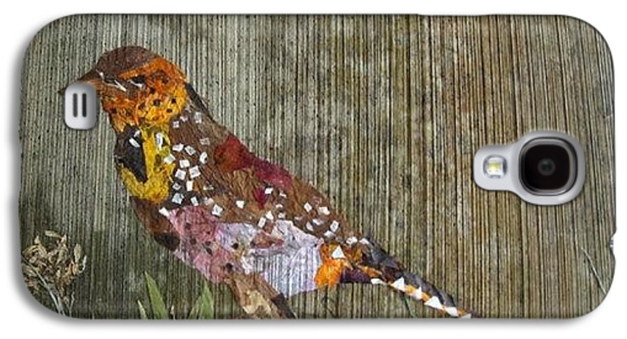 Bar-bat Bird Galaxy S4 Case featuring the mixed media Bird Barbet by Basant Soni