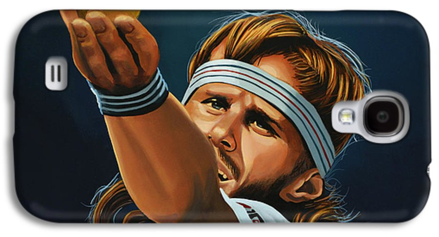 Bjorn Borg Galaxy S4 Case featuring the painting Bjorn Borg by Paul Meijering