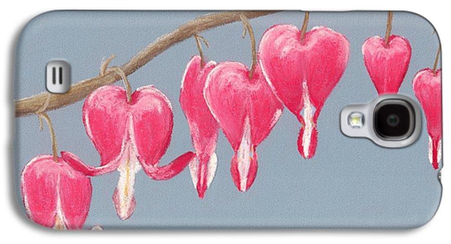 Bleeding Galaxy S4 Case featuring the painting Bleeding Hearts by Anastasiya Malakhova