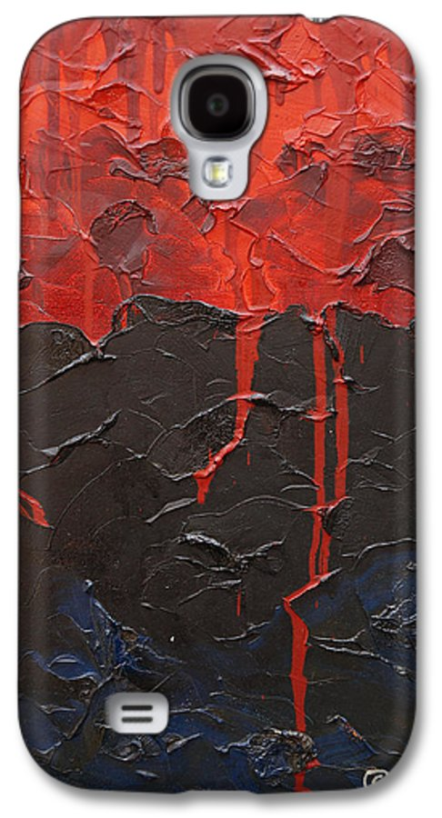Fantasy Galaxy S4 Case featuring the painting Bleeding Sky by Sergey Bezhinets