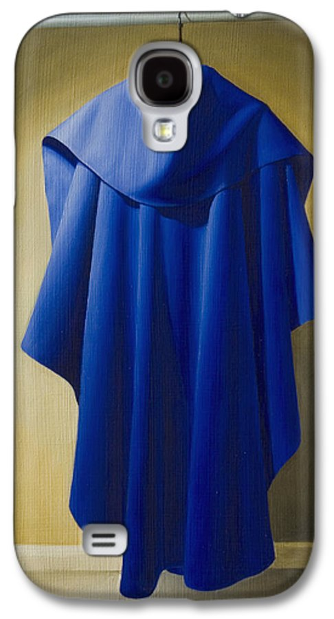 Realism Galaxy S4 Case featuring the painting Blue Cape by Gary Hernandez