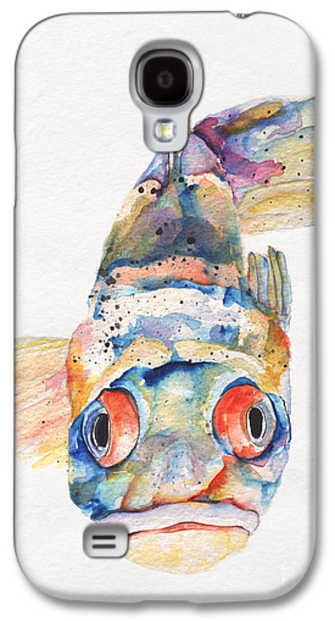 Pat Saunders-white Galaxy S4 Case featuring the painting Blue Fish  by Pat Saunders-White