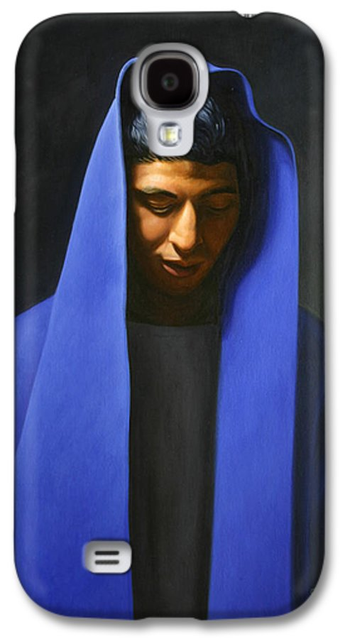 Blue Galaxy S4 Case featuring the painting Blue by Gary Hernandez