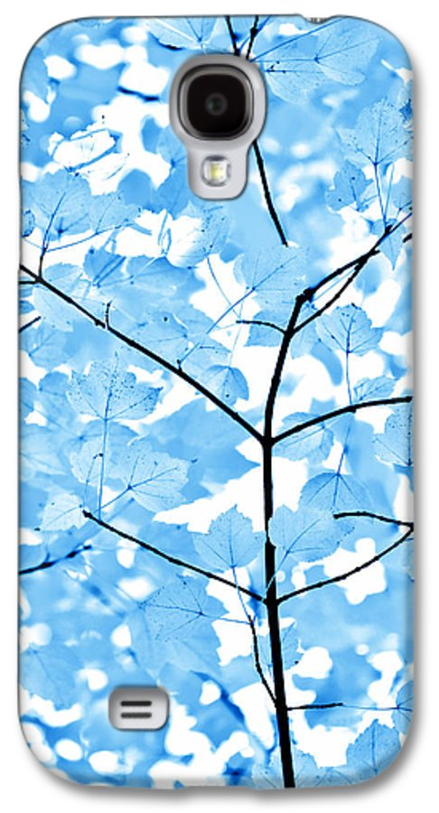 Leaf Galaxy S4 Case featuring the photograph Blue Leaves Melody by Jennie Marie Schell
