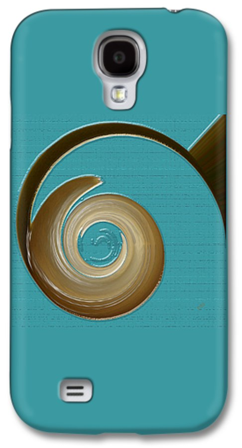 Blue Abstract Galaxy S4 Case featuring the digital art Blue Motion by Ben and Raisa Gertsberg
