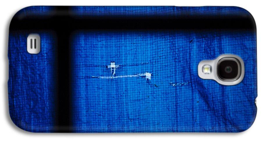 Tarp Galaxy S4 Case featuring the photograph Blue Shade by Christi Kraft
