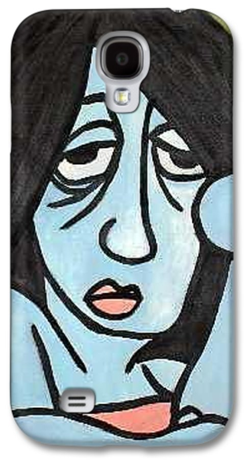 Portrait Galaxy S4 Case featuring the painting Blue by Thomas Valentine