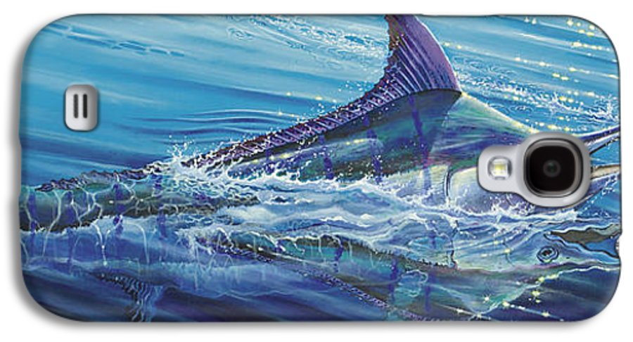 Blue Galaxy S4 Case featuring the painting Blue Tranquility Off0051 by Carey Chen