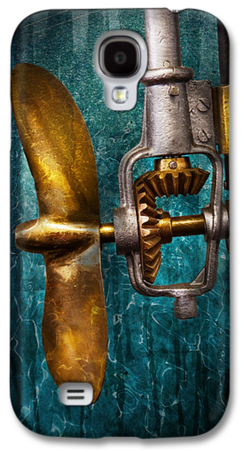 Hdr Galaxy S4 Case featuring the photograph Boat - Propulsion by Mike Savad