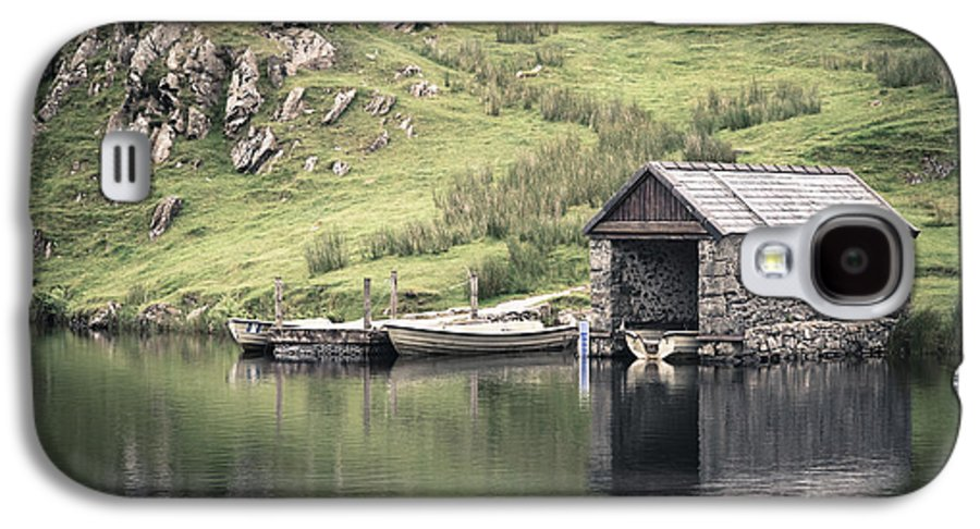 Boat Galaxy S4 Case featuring the photograph Boathouse by Jane Rix