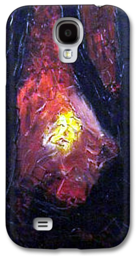 Landscape Galaxy S4 Case featuring the painting Bonefire by Sergey Bezhinets