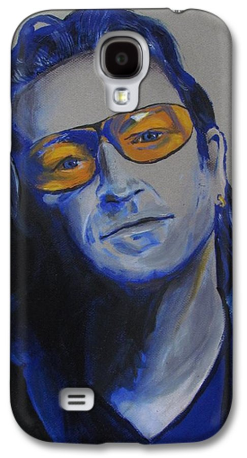 Celebrity Portraits Galaxy S4 Case featuring the painting Bono U2 by Eric Dee