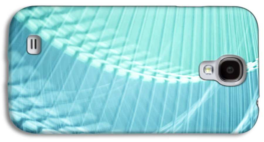 Breeze Galaxy S4 Case featuring the photograph Breeze Vi - Turquoise Abstract by Natalie Kinnear