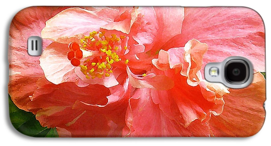 Hibiscus Galaxy S4 Case featuring the digital art Bright Pink Hibiscus by James Temple