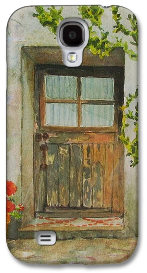 Door Galaxy S4 Case featuring the painting Brittany Door by Mary Ellen Mueller Legault