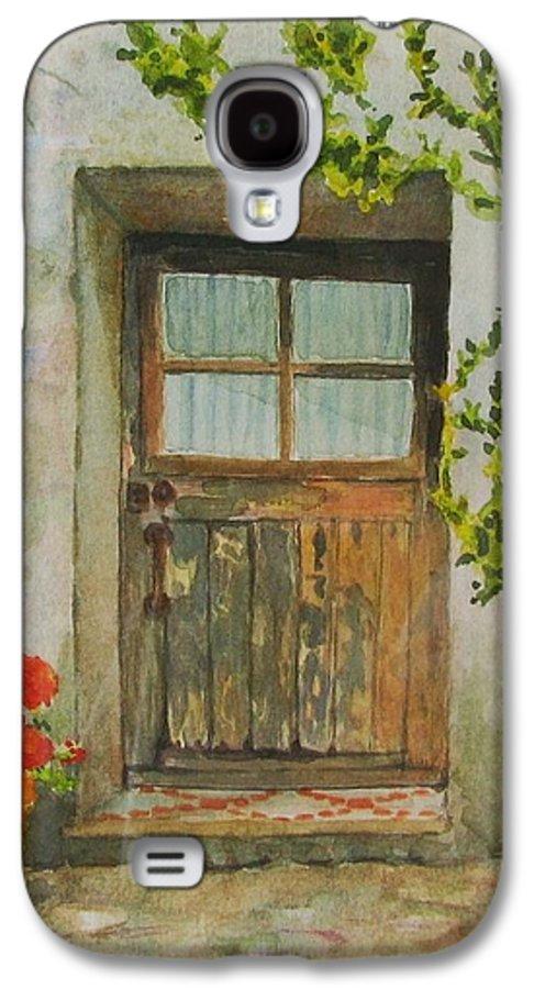Door Galaxy S4 Case featuring the painting Brittany Door by Mary Ellen Mueller Legault