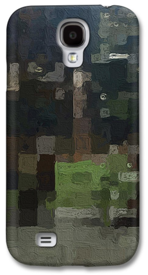 Abstract Painting Galaxy S4 Case featuring the painting Bryant Park by Linda Woods