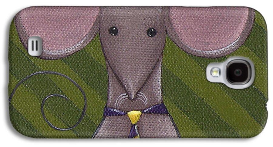 Mouse Galaxy S4 Case featuring the painting Business Mouse by Christy Beckwith
