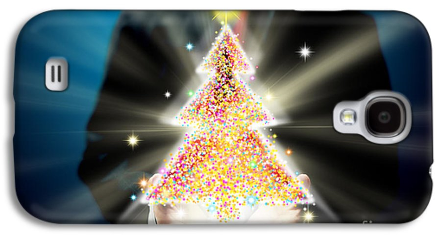 Business Galaxy S4 Case featuring the mixed media Bussinessman With Christmas by Atiketta Sangasaeng