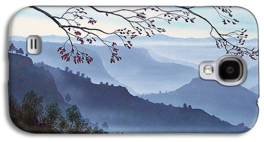 Mural Galaxy S4 Case featuring the painting Butte Creek Canyon Mural by Frank Wilson
