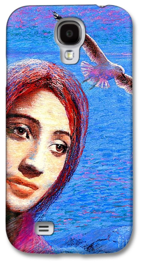 Mystical Galaxy S4 Case featuring the painting Call Of The Deep by Jane Small