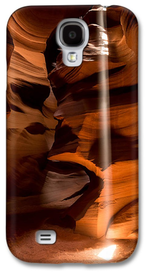 Antelope Canyon Galaxy S4 Case featuring the photograph Canyon Sunbeam 1 by Domenik Studer