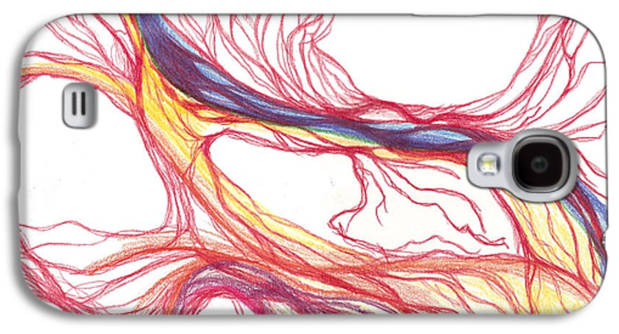 Capillaries Galaxy S4 Case featuring the drawing Capillaries by Lindsay Clark
