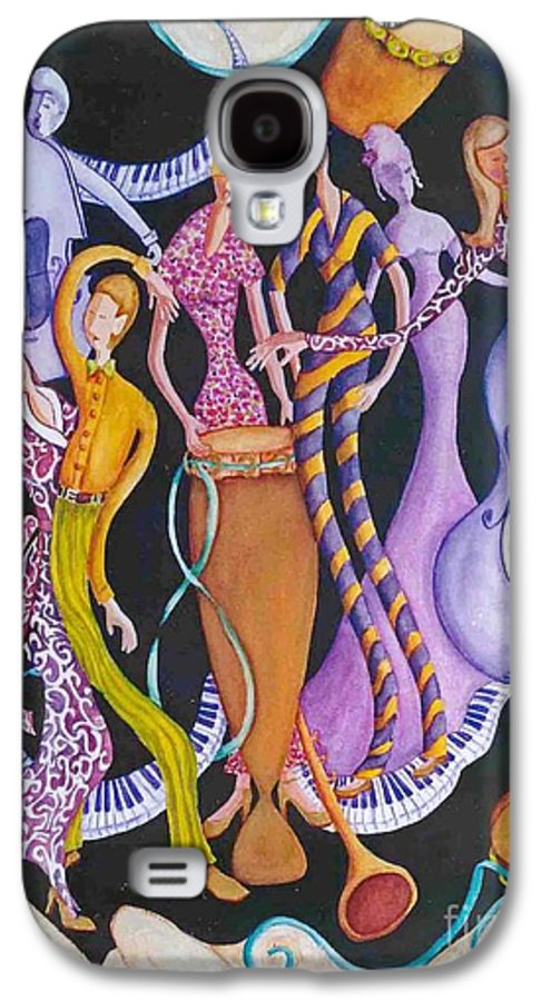 Dancers Galaxy S4 Case featuring the painting Caribbean Calypso by Arleen Barton
