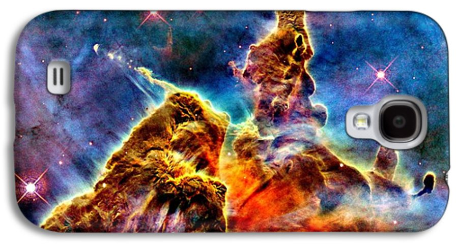 Astronomy Galaxy S4 Case featuring the photograph Carina Pillar by Benjamin Yeager