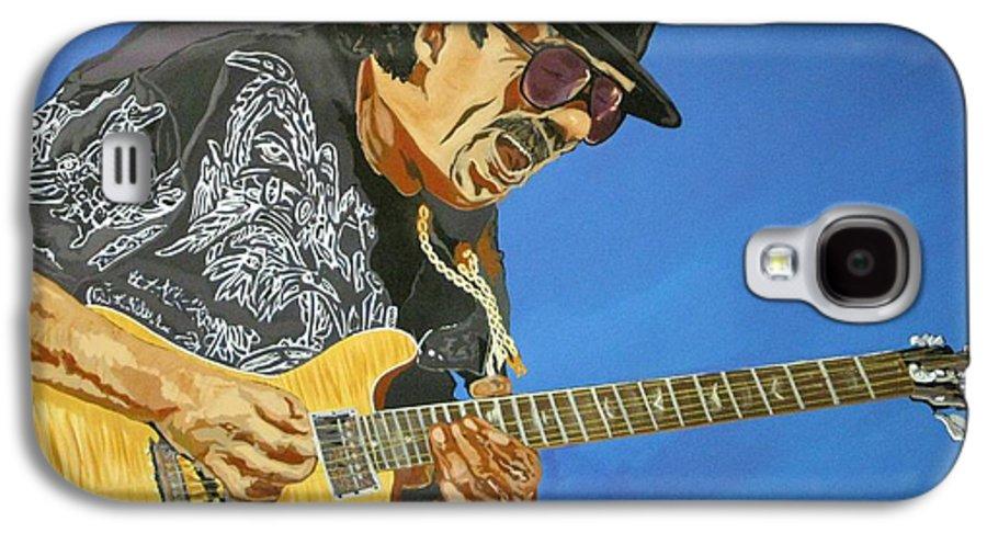 Carlos Santana Galaxy S4 Case featuring the painting Carlos Santana-magical Musica by Bill Manson