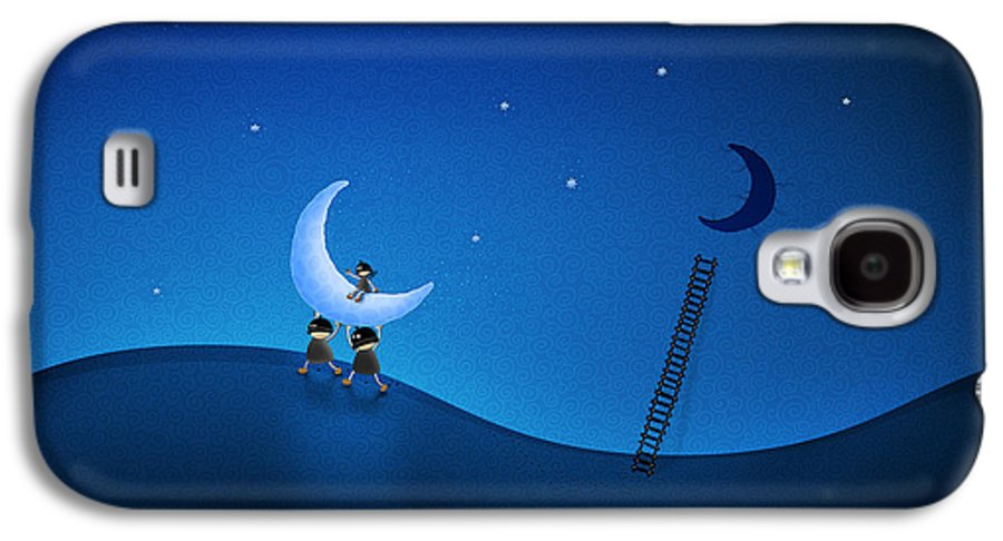 Carry Galaxy S4 Case featuring the digital art Carry The Moon by Gianfranco Weiss